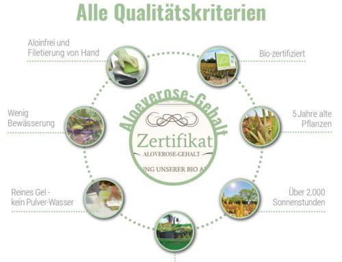 Aloe Vera Qualitätskriterien – so sollte produziert werden